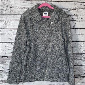 Old Navy Girls Knit Moto Jacket Size XL (14)